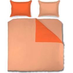 Nightsrest Dekbedovertrek Two Tones Mandarine - Orange Maat: 2-Persoons (200 x 220 cm + 2 kussenslopen 60x70cm)