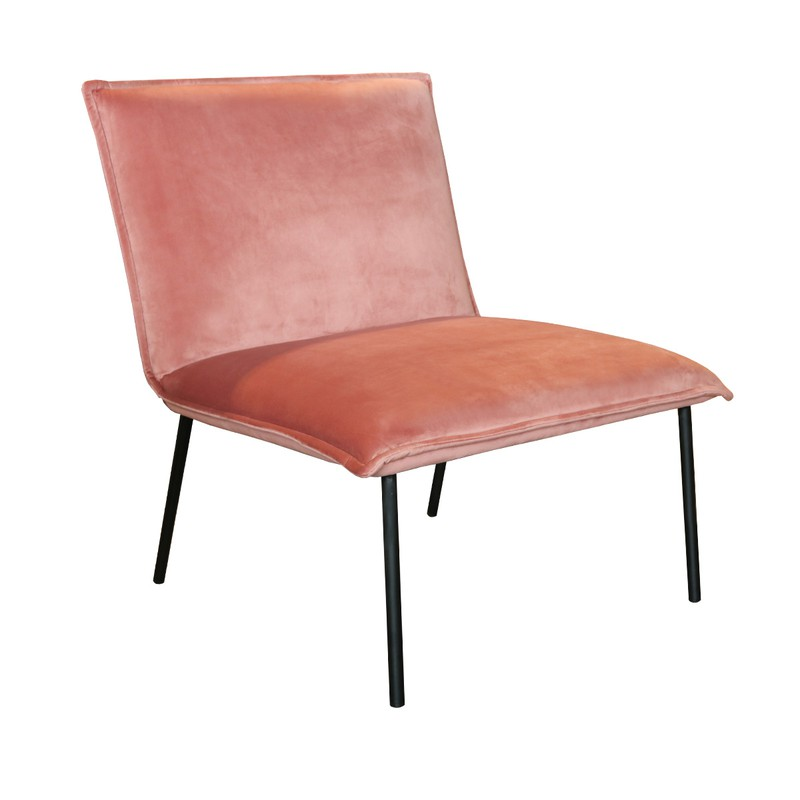 Kick fauteuil Velvet Lola - Roze   -