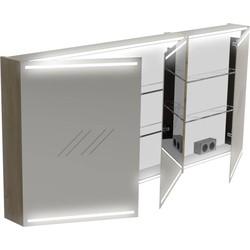 Thebalux Deluxe Spiegelkast 70x150x13,5 cm Antraciet Hoogglans
