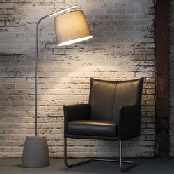 Vloerlamp concrete ellipse-verstelbare kap / Grijs