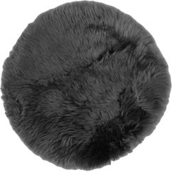 Schapenvacht Rond - ø40 cm - donkergrijs