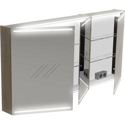 Thebalux Deluxe Spiegelkast 70x140x13,5 cm Wit Hoogglans