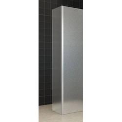 Saqu Walk-In zijdeel voor inloopdouche 35x200cm Mat glas (antikalk)