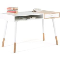 Woodman Sale - Bureau Sonnenblick L120 X B60 X H75 Cm - Mat Wit