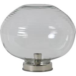 Tafellamp GHIANNA - glas nikkel