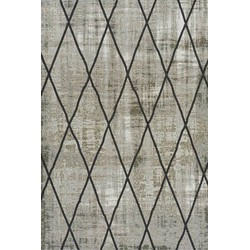 Brinker Feel Good Carpets Cross Silver Grey - 240 x 340 cm