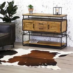 Industrieel dressoir metaal hout Texas