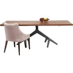 Kare Design - Roots Eettafel - 220x100x77 - Tafelblad Acacia Hout