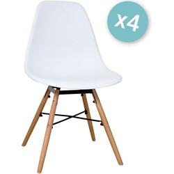 Zons - Set van 4 stoelen - Wit