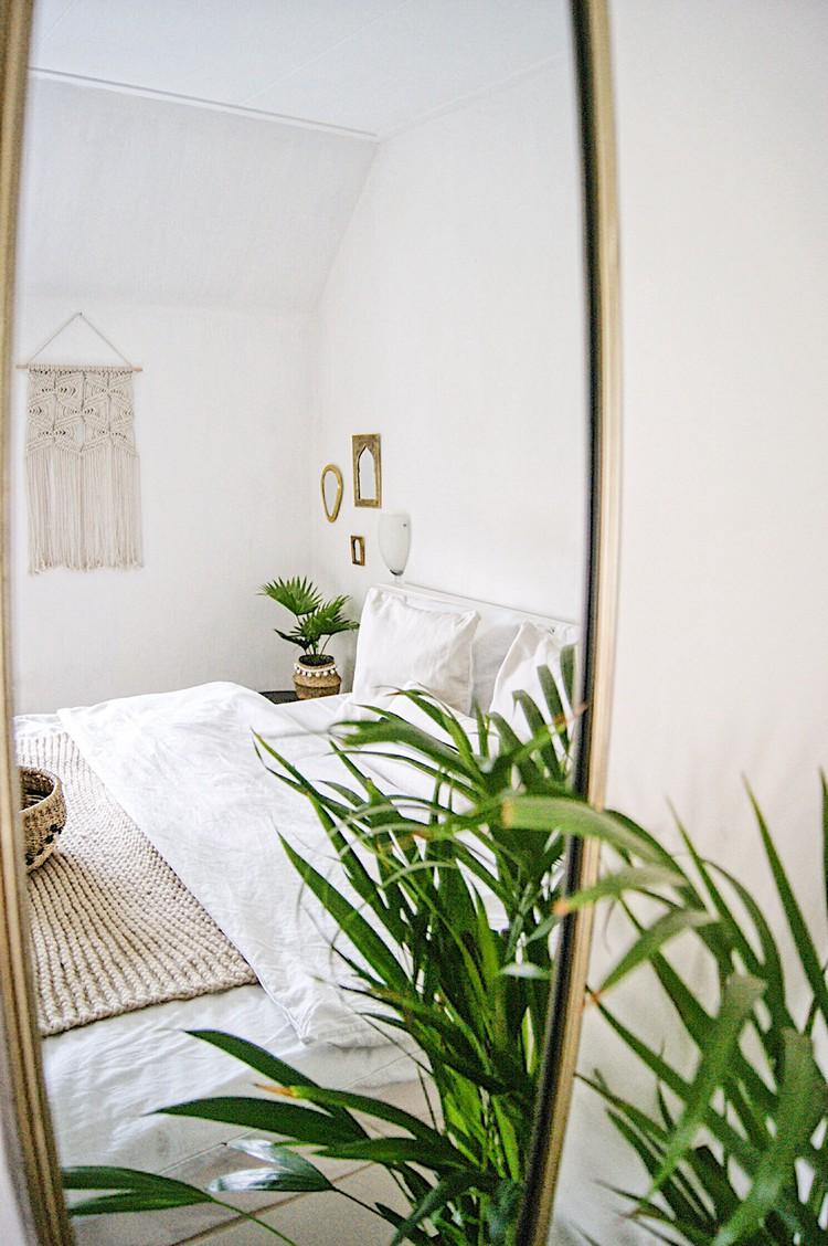 slaapkamer plant wit