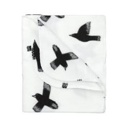 HEMA Fleece Plaid 150 X 130 Cm (Wit/zwart)