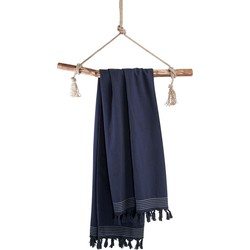 Hamamdoek Soft Cotton 100x180 cm navy blauw