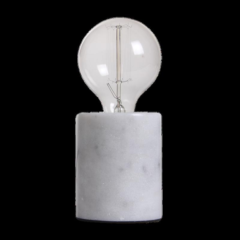 Tafellamp Sweden rond Diameter 7.5 cm marmer wit -