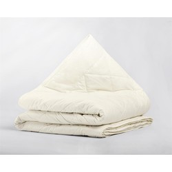 Percale Cotton Wool Touch 4-Seizoenen Dekbed Cream - 140 x 200