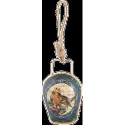 Clayre & Eef Hanger bel vogel 6x5x11 cm
