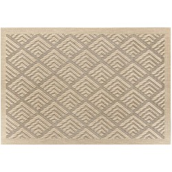 Placemat Earth taupe rechthoek 44cm