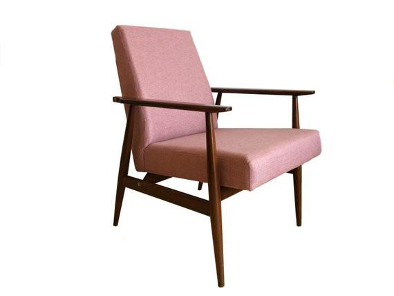 Goede Mid-Century fauteuil Hanna Lis - Deens Design - roze - Buashko BJ-13