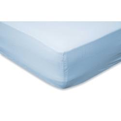 Hoeslaken Katoen 30cm Hoek - licht blauw (Licht Blauw, 90x200)