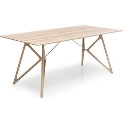 Tink Table - Houten eettafel - Houten tafelblad - Whitewash - 200 x 90 cm
