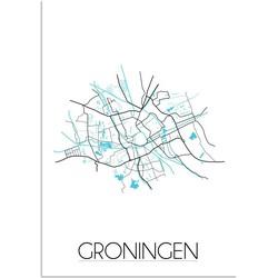 Groningen Plattegrond poster - A4 poster zonder fotolijst