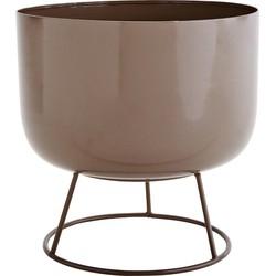 Madam Stoltz Pot Standaard Taupe 24 x ø25