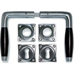 Deurklink Klassiek mat nikkel, set (inc. sleutel rozetten)