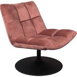 Dutchbone fauteuil Bar velvet oud roze 78 x 66 x 81