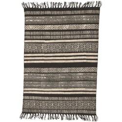 House Doctor Vloerkleed Stack zwart/grijs/nude 160x230 cm
