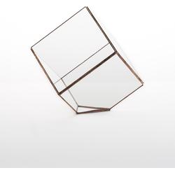Geometrisch terrarium Cube van Hart & Ruyt - 15cm - Koper