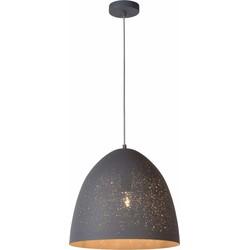 Lucide Verstelbare Hanglamp Eternal 1-Lichts Ø40 X H36 Cm - Metaal Zwart