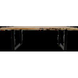 Eettafel SoHo - 200x100 cm - acacia/ijzer