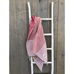 Mycha Ibiza - hamamdoek - roze - 100% katoen