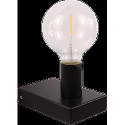 Wandlamp Waldemar 1 lichts mat zwart