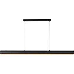 Lucide Verstelbare Hanglamp Flux-LED 1-Lichts L118.5 X B7 Cm - Aluminium Zwart