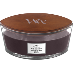 Woodwick Ellipse Candle Black Plum