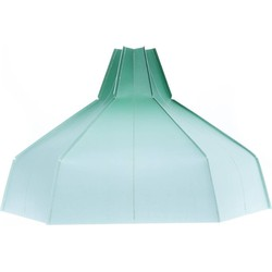 Folded Lampshade Green Gradient