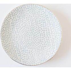 Kitchen Trend Ontbijtbord | Dots Blue | Ø  20 cm