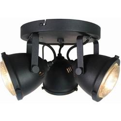 LABEL51 - LED Spot Moto 3-Lichts 30x30x16 cm - Industrieel - Zwart