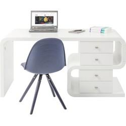 Kare Design Bureau White Club Snake Desk - 150x70x76 - Mat Wit