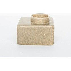 Wax light holder stone - Beige