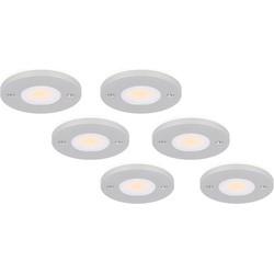 Complete set LED Opbouwspots Livo 6 x 3W (vervangt 35W)
