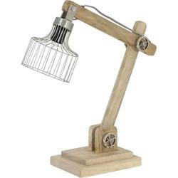 Light & Living - Ebke Bureaulamp - Wit