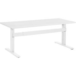 Bureau wit/wit 160x70 cm elektrisch in hoogte verstelbaar UPLIFT