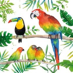 Papieren servetten Vogels