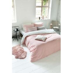 Dekbedovertrek Square Feet 200x200/220 cm roze