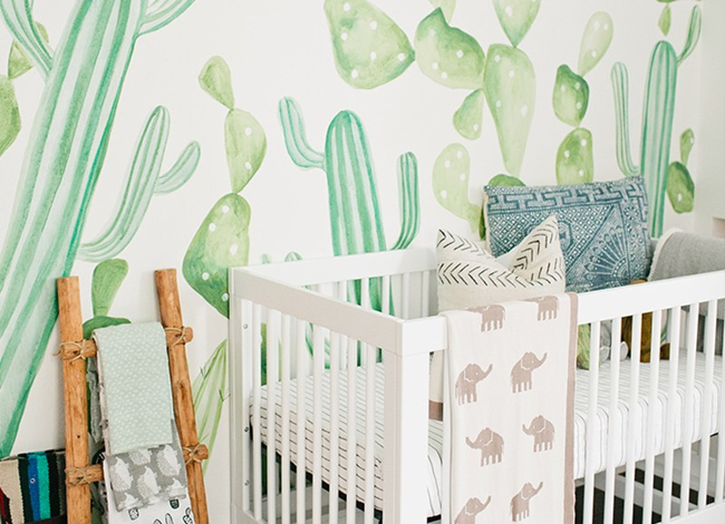 Babykamer Behang Grijs : Shop the look behang in de babykamer alles om van je huis