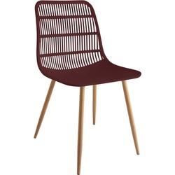 Tamy - Set van 4 stoelen - Bordeaux