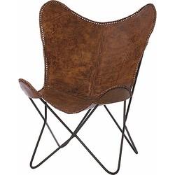 Riverdale Brooklyn Vlinderstoel 93 cm - Bruin