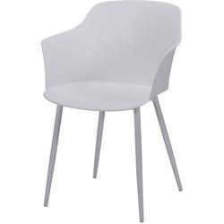 Pure Scandinavian - Eetkamerstoelen - set van 4 - zitkuip polypropyleen (PP) - Wit - gepoedercoate metalen poten  - zelfde kleur kuip