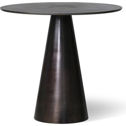 black metal side table L